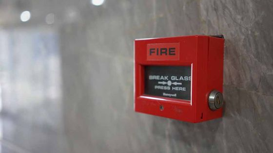 One of the fire alarms out team have installed for a client
